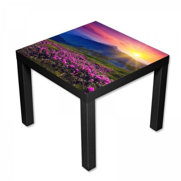 Beistelltisch Couchtisch mit Motiv Natur Berge & Landschaft im Sonnenaufgang