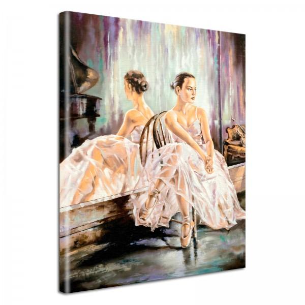 Leinwandbild Gemälde Ballerina