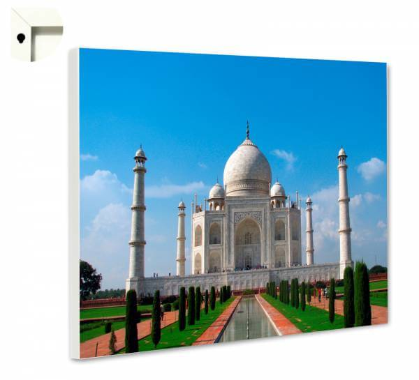 Magnettafel Pinnwand mit Motiv Indien Taj Mahal