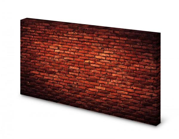 Magnettafel Pinnwand Bild Mauer Ziegelsteine Ziegelmauer rot