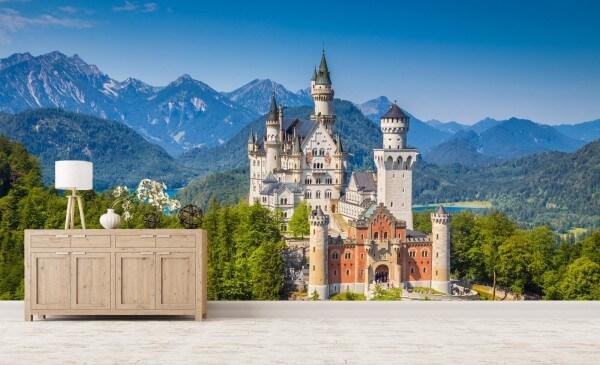 Vlies Tapete XXL Poster Fototapete Schloss Neuschwanstein Bayern
