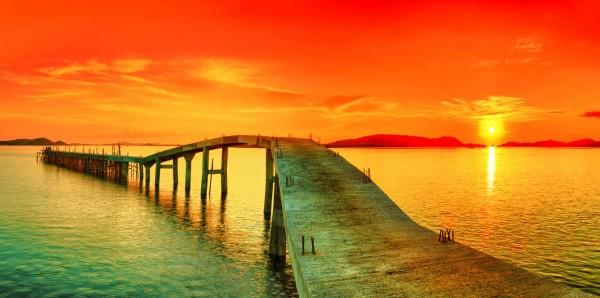 Magnettafel Pinnwand XXL Magnetbild Meer Sonnenuntergang