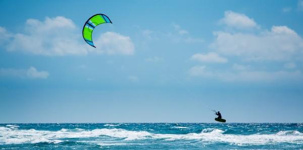 Magnettafel Pinnwand Bild XXL Panorama Kitesurfen Kite Meer