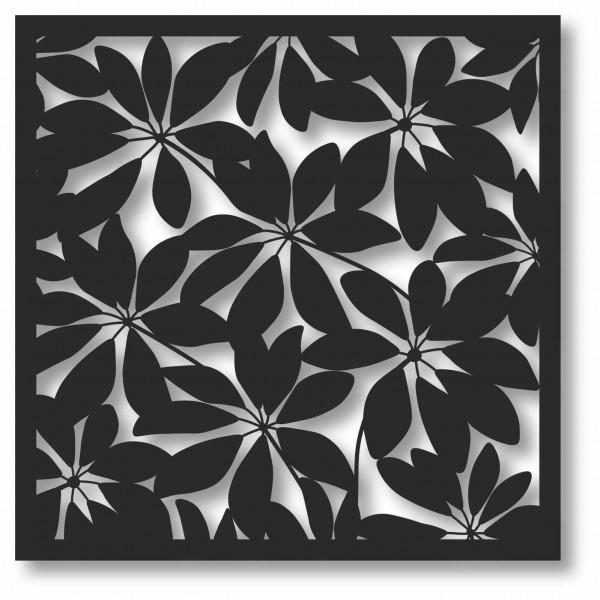 Bild Wandbild 3D Wandtattoo Acryl Muster Blätter Blattmuster Natur