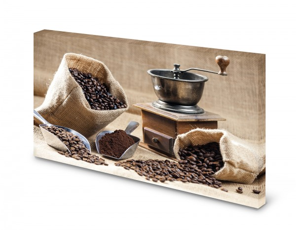 Magnettafel Pinnwand Bild Kaffeemühle Kaffee XXL gekantet