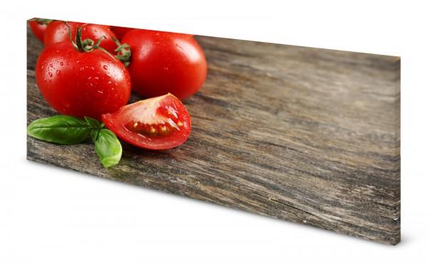 Magnettafel Pinnwand Bild Küche Holz Holzoptik Tomate gekantet