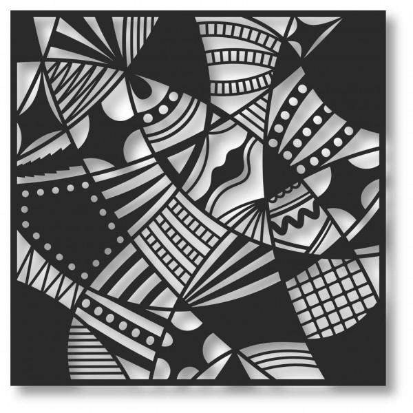 Bild Wandbild 3D Wandtattoo Acryl Mobile Patchwork Muster Abstrakt