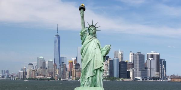 Magnettafel Pinnwand Bild XXL Panorama Freiheitsstatur USA
