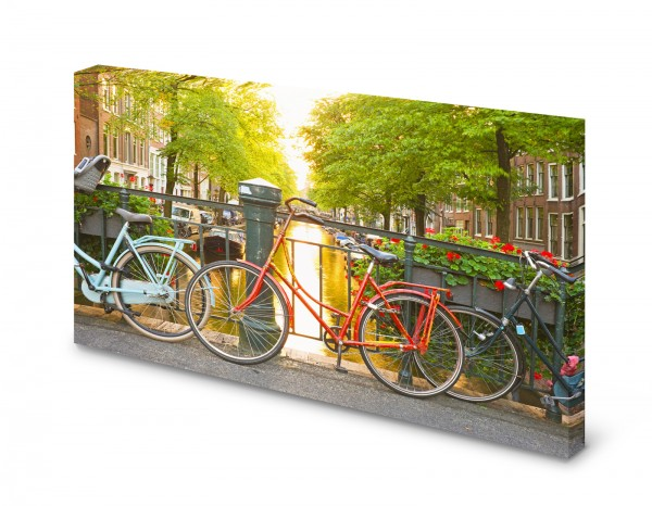 Magnettafel Pinnwand Holland Amsterdam Fahrrad Damenfahrrad gekantet