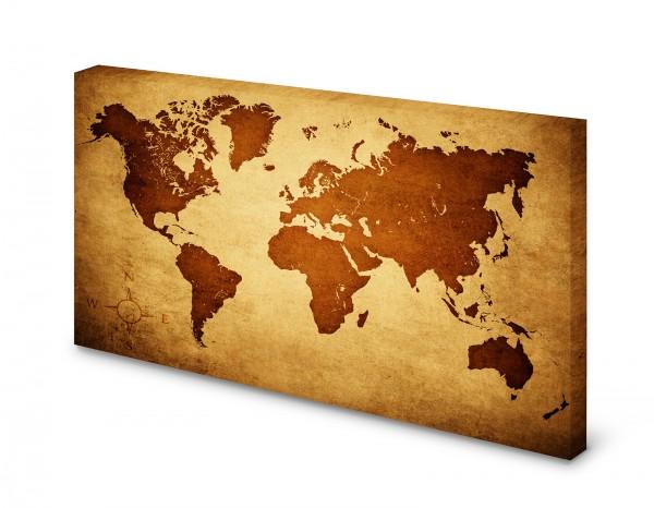 Magnettafel Pinnwand Bild Weltkarte Landkarte Welt gekantet XXL