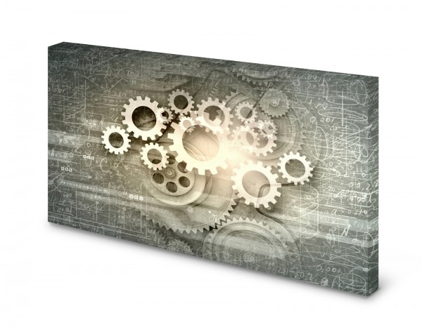 Magnettafel Pinnwand Bild Uhrwerk Zahnrad Zahnräder Feinmechanik gekantet