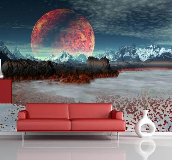 Poster Fototapete Fantasy Roter Planet