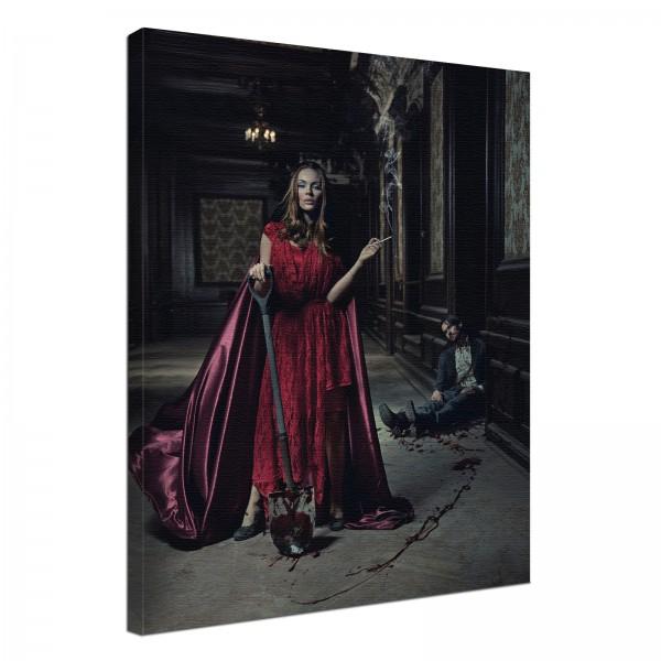 Leinwand Bild edel Gothic black C'est la vie