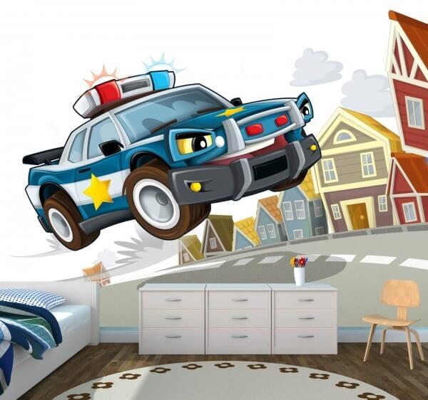 Vlies Tapete XXL Poster Fototapete Kinderzimmer Polizei