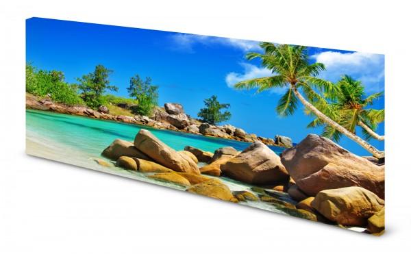Magnettafel Pinnwand Bild Seychellen Felsen gekantet
