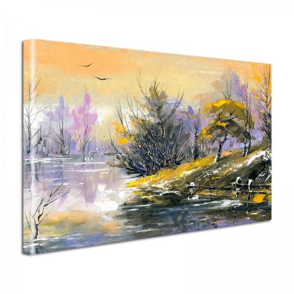 Leinwandbild Gemälde Landschaft