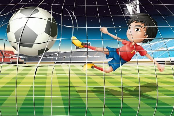 Magnettafel Pinnwand Magnetbild XXL Fussball Tor