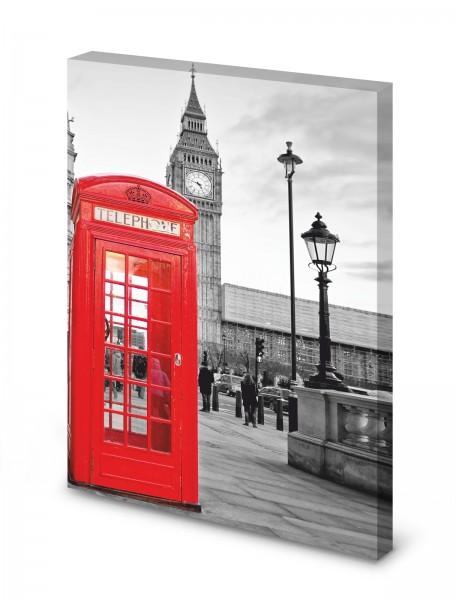 Magnettafel Pinnwand Bild London England Big Ben XXL gekantet