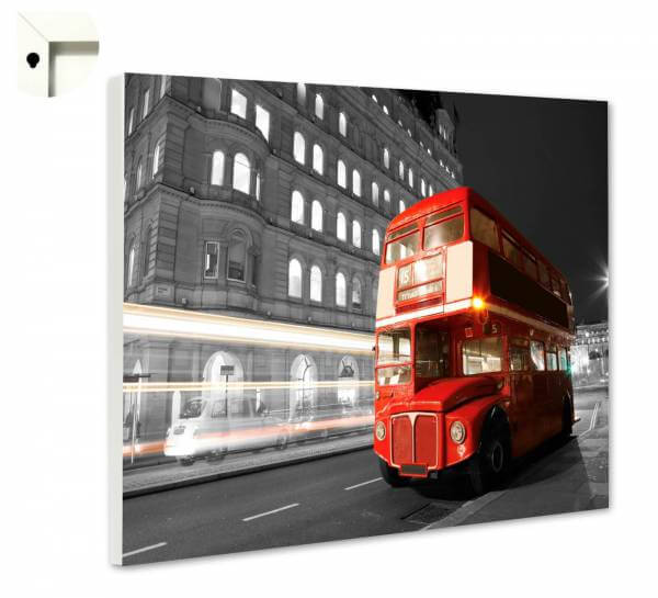 Magnettafel Pinnwand mit Motiv London Big Red Bus