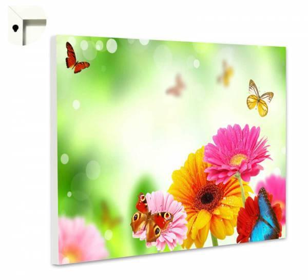 Magnettafel Pinnwand Bunte Blumen & Schmetterlinge