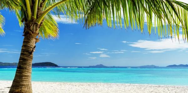 Magnettafel Pinnwand Bild XXL Panorama Südsee Karibik Wasser