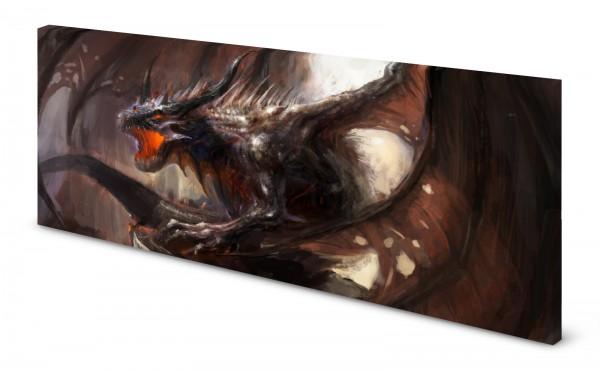 Magnettafel Pinnwand Bild Panorama Fantasy Drache gekantet