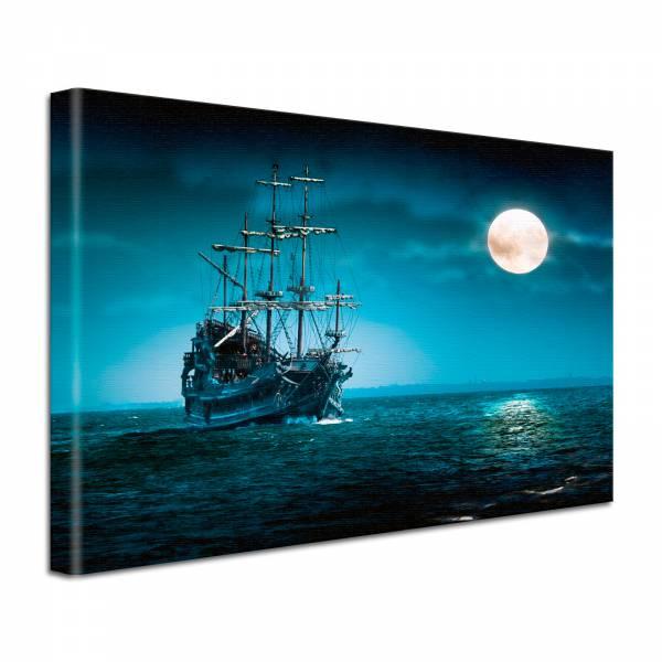 Leinwand Bild edel Fantasy Piraten Schiff