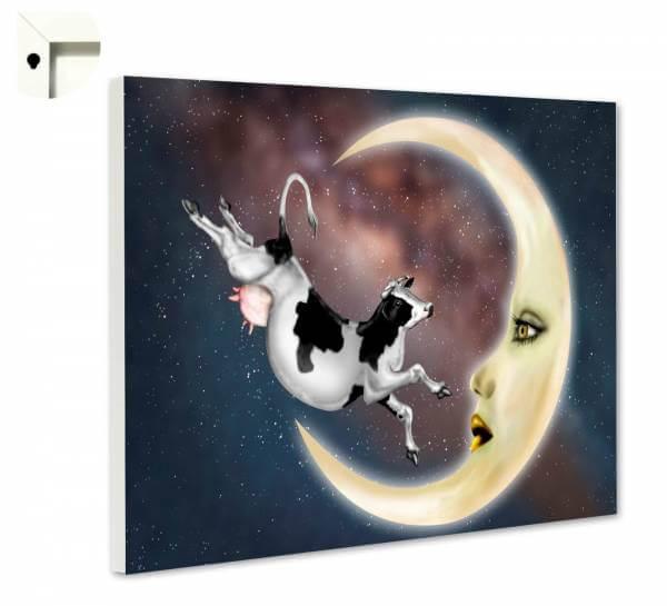 Magnettafel Pinnwand Fantasy Mond Kuh