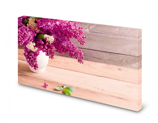 Magnettafel Pinnwand Bild Flieder lila Holz Frühling gekantet