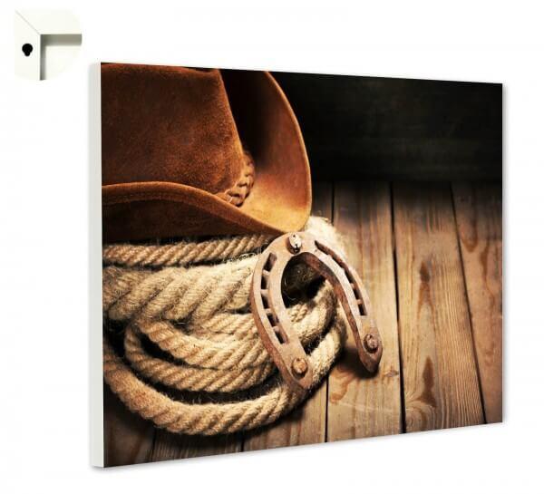 Magnettafel Pinnwand Cowboy Hut Western Holz