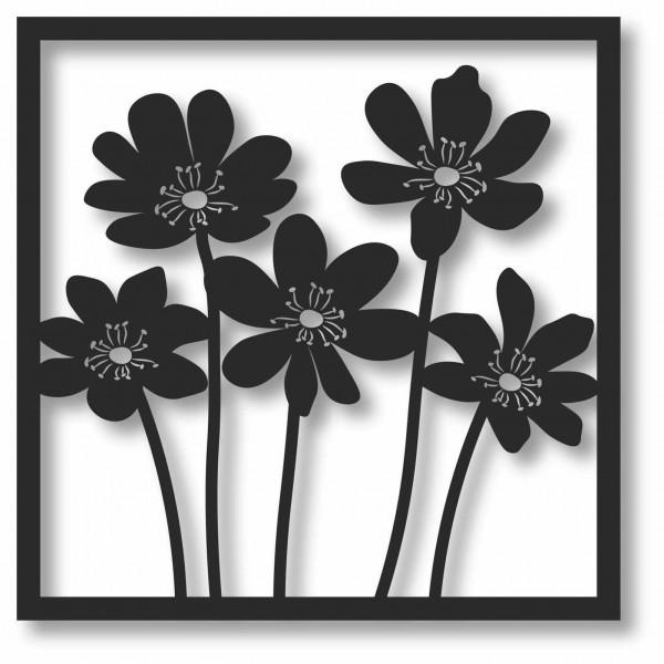 Bild Wandbild 3D Wandtattoo Acryl Mobile Blumen Blumenmuster Natur