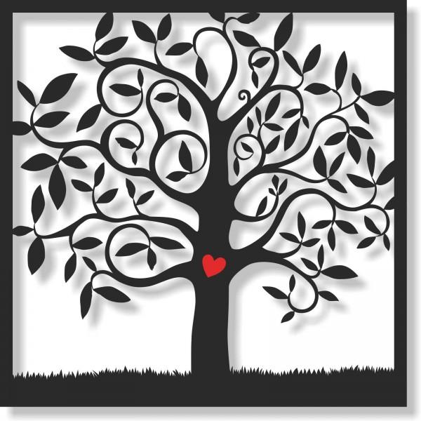 Bild Wandbild Wandtattoo Acryl Mobile Baum Wiese Blätter