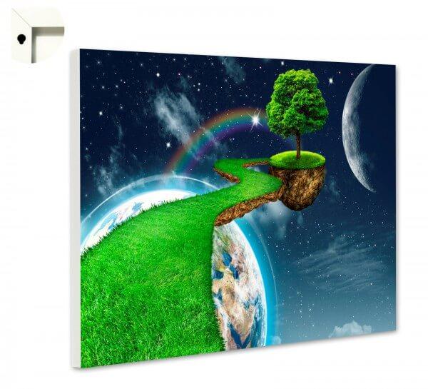 Magnettafel Pinnwand Grünes Universum