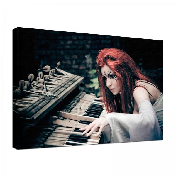 Leinwand Bild edel Gothic Fantasy Orgel Symphonie