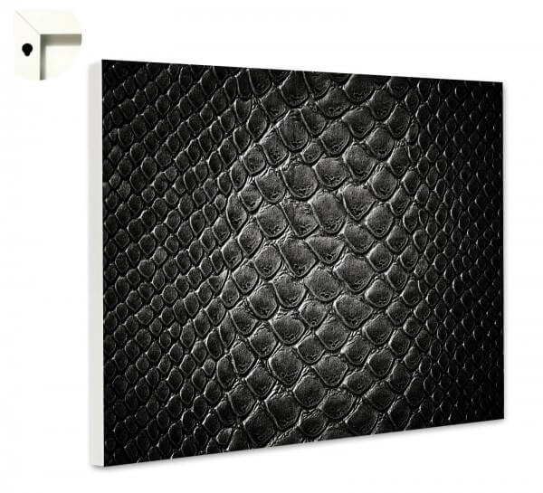 Magnettafel Pinnwand Muster Schlangenleder schwarz