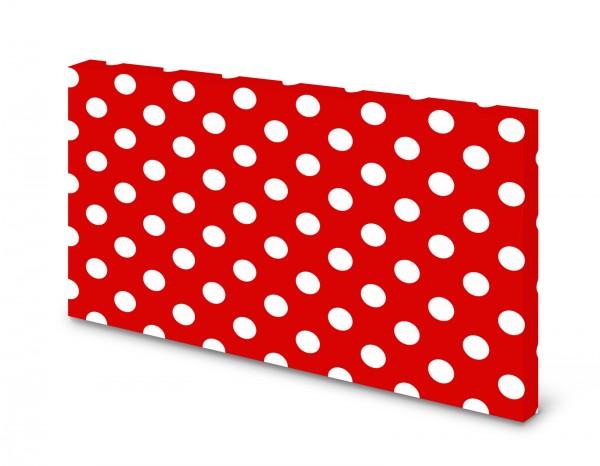 Magnettafel Pinnwand Bild XXL Polka Dot Punkte rot weiß