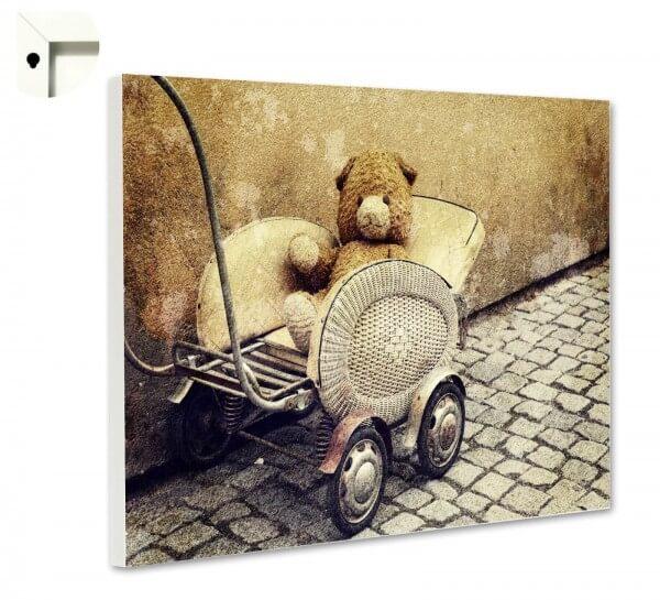 Magnettafel Pinnwand Antik Teddy Puppenwagen