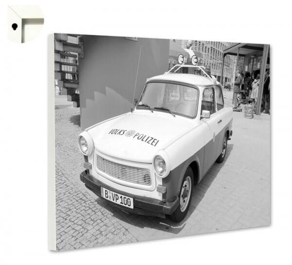 Magnettafel Pinnwand mit Motiv Retro Trabi DDR Volkspolizei