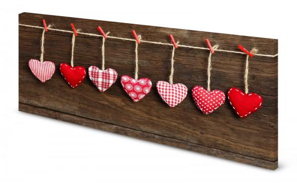 Magnettafel Pinnwand Bild Landhaus Stil Holzoptik Herz gekantet