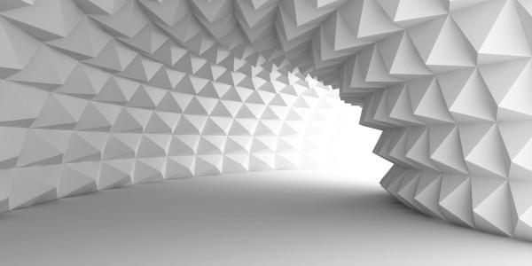 Magnettafel Pinnwand Bild XXL Panorama 3D Tunnel weiss
