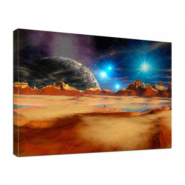 Leinwand Bild edel Fantasy Science Fiction Wüstenplanet