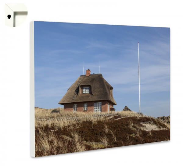 Magnettafel Pinnwand Natur Sylt Reetdachhaus