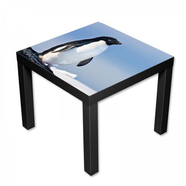 Beistelltisch Couchtisch mit Motiv Tiere Cooler Pinguin