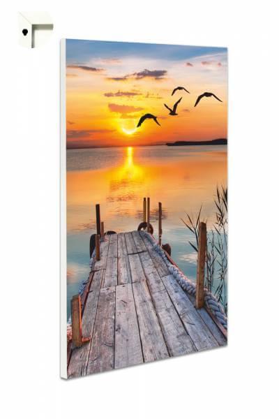Magnettafel Pinnwand Natur Steg in der Abendsonne