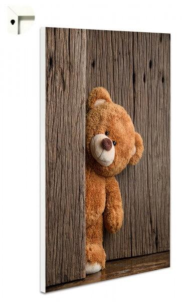 Magnettafel Pinnwand Memoboard mit Motiv Teddy Bär Holz knuffig!