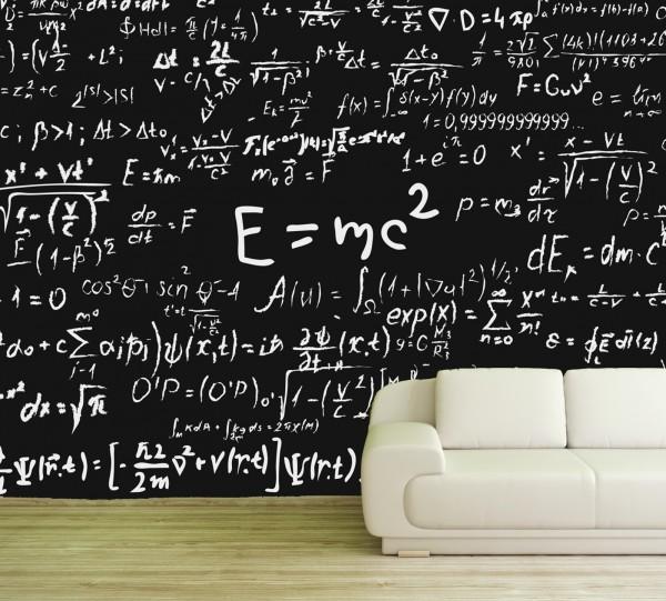 Vlies Tapete Poster XXL Fototapete Relativitätstheorie Formel Einstein
