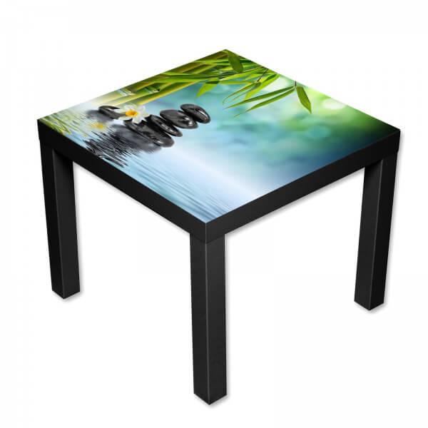 Beistelltisch Couchtisch mit Motiv Natur Zen & Bambus