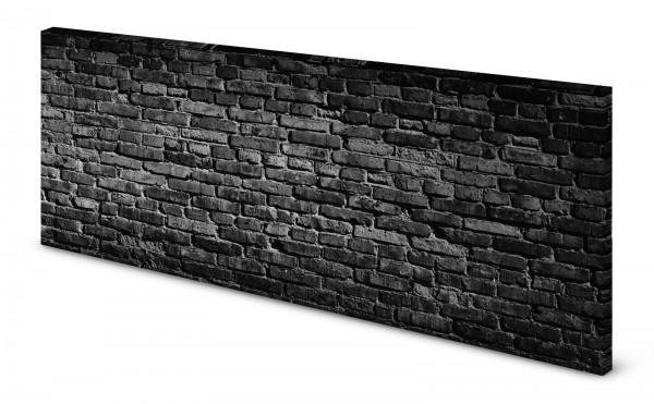 Magnettafel Pinnwand Bild Mauer Steinmauer Steine schwarz gekantet