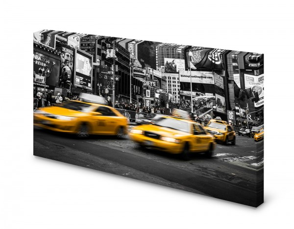 Magnettafel Pinnwand Bild New York Taxi XXL gekantet