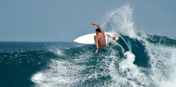 Magnettafel Pinnwand Bild XXL Panorama Surfen Wellenreiter